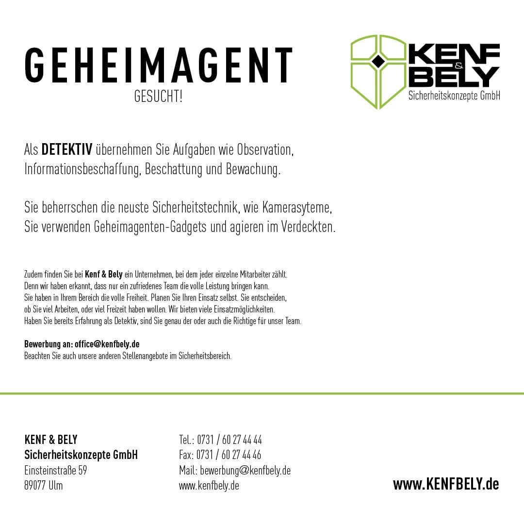 Karriere Kenf und Bely - Detektiv