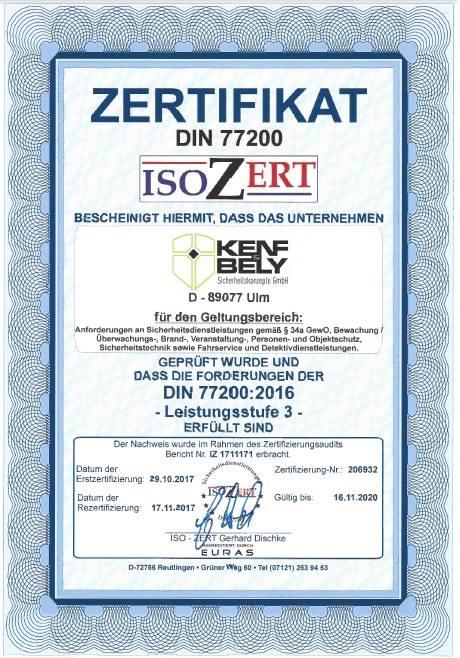 Kenf und Bely - Isozert Din 7720
